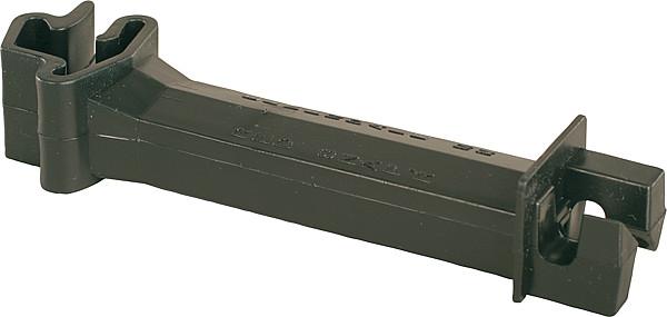 Abstands-Isolator schwarz, für T-Pfosten für Litzen/Seile bis 6mm (25 Stück/Pack)