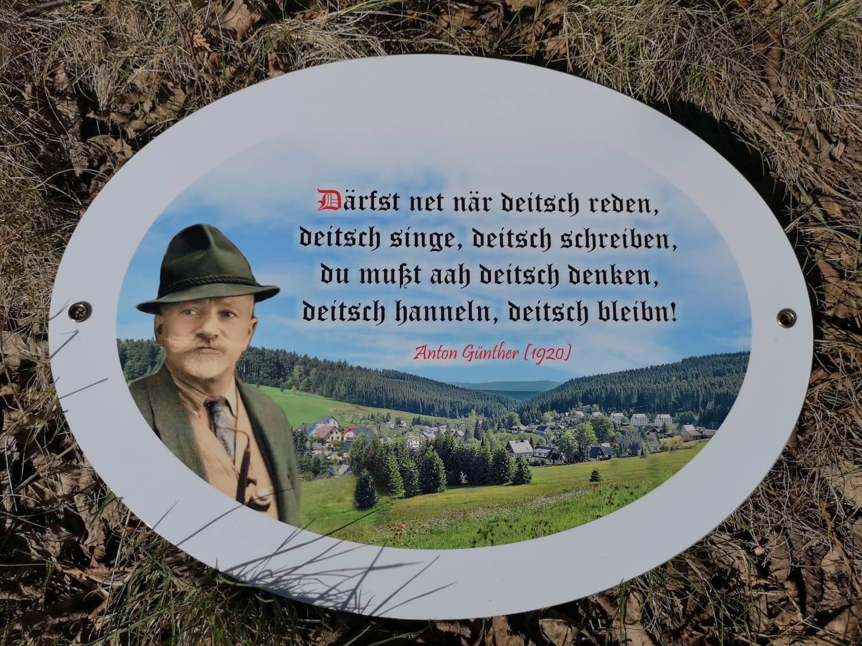 Anton Günther Blechschild B-Ware!