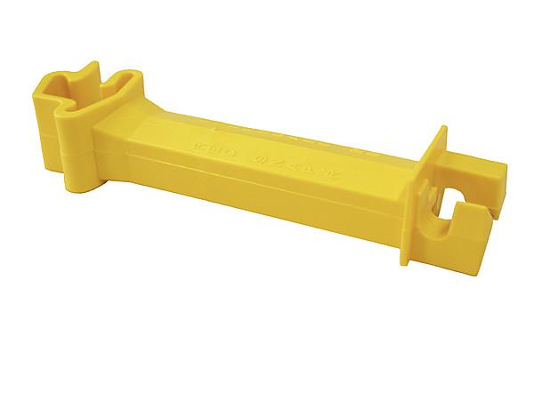 Abstands-Isolator gelb, für T-Pfosten für Litzen/Seile bis 6mm (25 Stück/Pack)