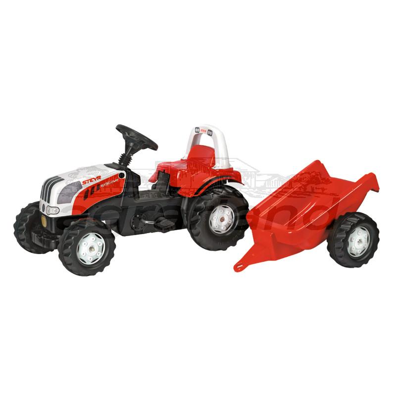 rollyKid Steyr CVT 6165 Trettraktor mit Anhänger Rolly Toys