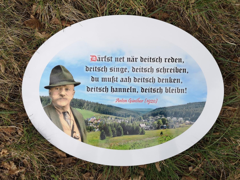 Anton Günther Blechschild