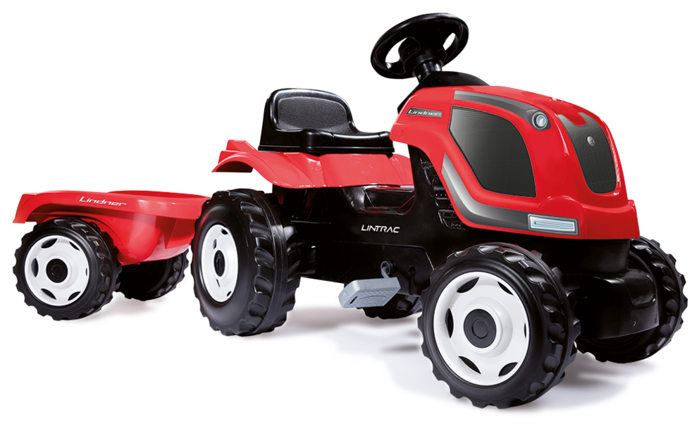 Kindertrettraktor im LINTRAC-Design mit Anhänger